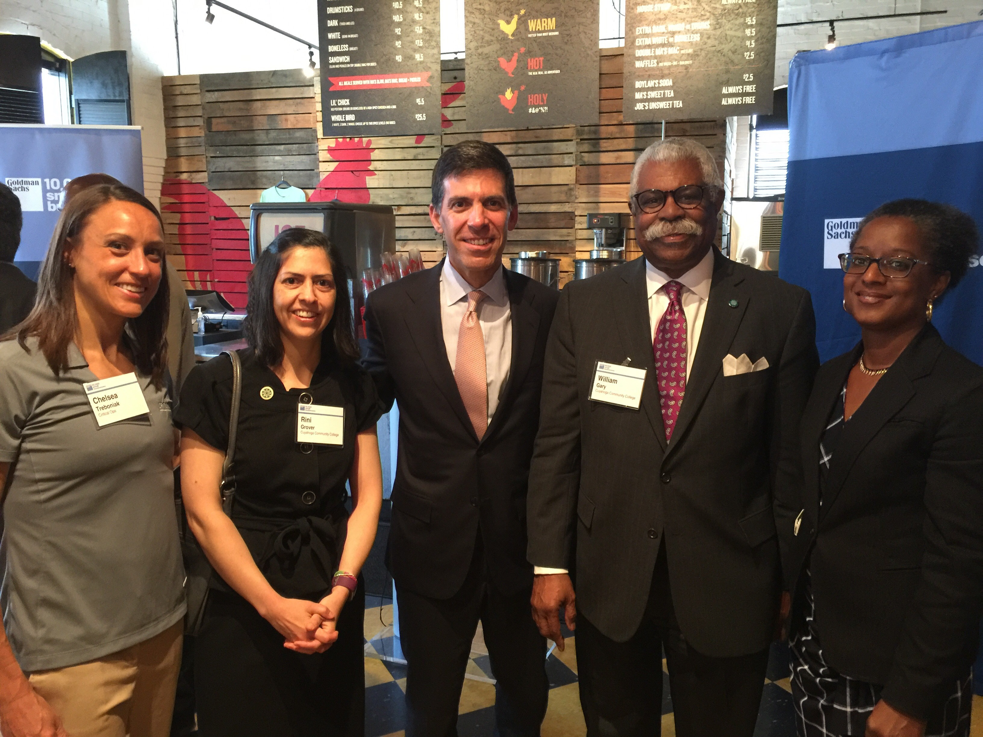 5 participants of the Goldman Sachs 10KSB launch in Columbus, Ohio